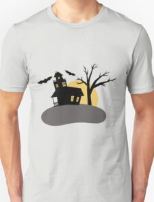Spooky Haunted House Unisex T-Shirt