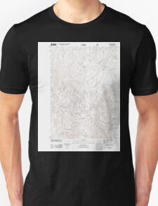USGS Topo Map Oregon Bates 20110817 TM Unisex T-Shirt