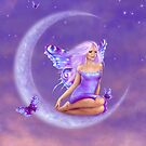 Lavender Moon Butterfly Fairy by Rachel Anderson