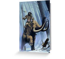 Frost Giant on Mammoth Greeting Card