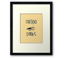 Coffee & Books Framed Print