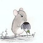 Miss Rat and her Echineacea flower by InkyDreamz