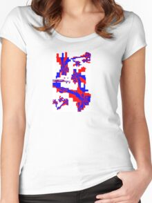 Red White Blue Women's Fitted Scoop T-Shirt