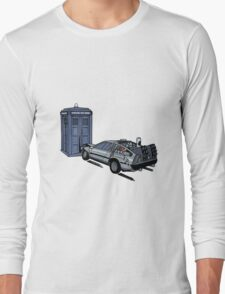 Dr Who Vs Back To the Future Long Sleeve T-Shirt