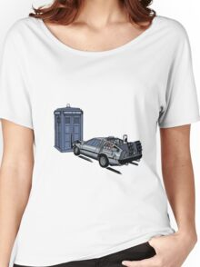 Dr Who Vs Back To the Future Women's Relaxed Fit T-Shirt