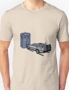 Dr Who Vs Back To the Future Unisex T-Shirt