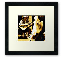 Singing for His Supper. Framed Print