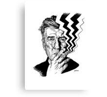David Lynch smoking Canvas Print