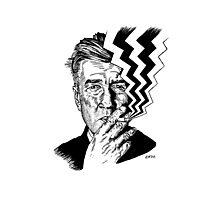 David Lynch smoking Photographic Print