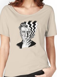 David Lynch smoking Women's Relaxed Fit T-Shirt
