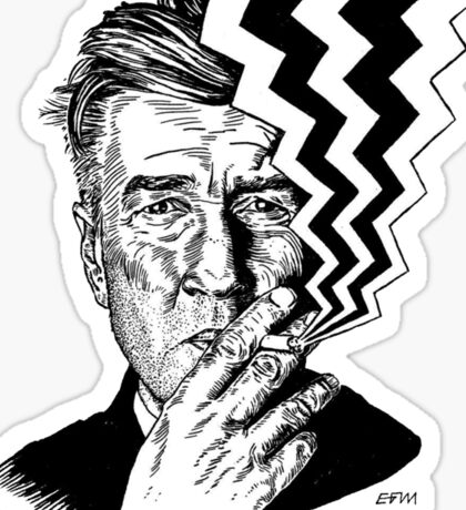 David Lynch smoking Sticker
