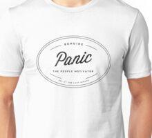 Panic - Black on White Unisex T-Shirt
