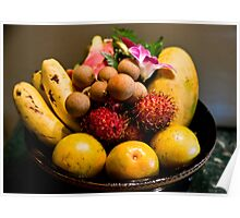 Southeast Asian Fruits Poster