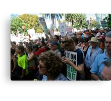 Climate action rally Canvas Print