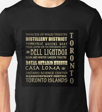 Toronto Canada Famous Landmarks Unisex T-Shirt