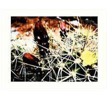 Spine Budding Bloom Art Print