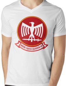 Marine Fighting Squadron 441 Emblem Mens V-Neck T-Shirt