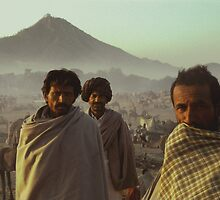 Three Cameleers Pushkar India by Robert van Koesveld