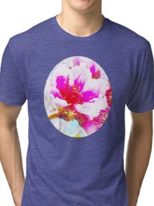 Chalk Blossoms Tri-blend T-Shirt