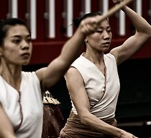 Auckland Art Festival 2011 - Taiwanese Drum Troupe Series 2 by dennis william gaylor