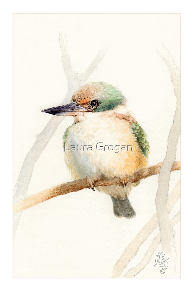 Sacred Kingfisher by Laura Grogan