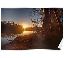 Sunset on the Banks - The River Murray Above Renmark Poster