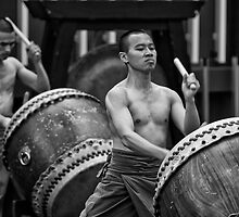 Auckland Art Festival 2011 - Taiwanese Drum Troupe Series  1 by dennis william gaylor