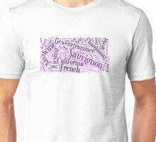 Wine Word Cloud Unisex T-Shirt