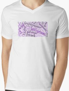 Wine Word Cloud Mens V-Neck T-Shirt