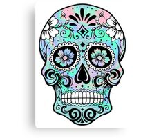 Sugar Skull Hologram Canvas Print