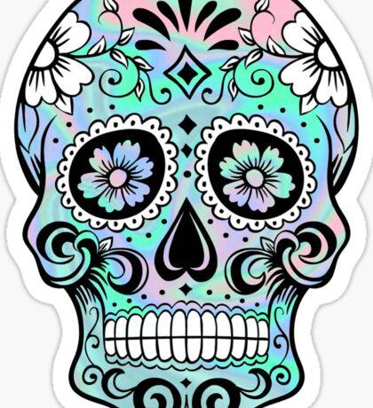 Sugar Skull Hologram Sticker