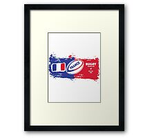 France Rugby World Cup Supporter Framed Print