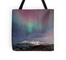 Aurora Borealis at the beach Tote Bag