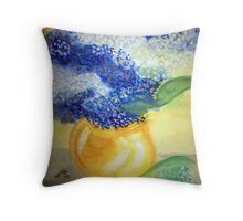Lily of the Valley + Forget-me-not Throw Pillow