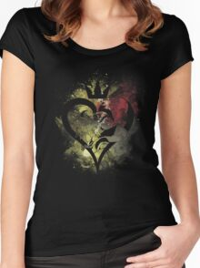 Light and Darkness Women's Fitted Scoop T-Shirt