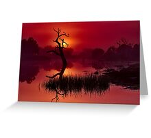 """Merlot Dawn"" Greeting Card"
