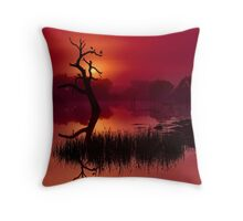 """Merlot Dawn"" Throw Pillow"