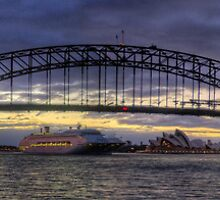 Welcome Home - Sydney Harbour Sunrise (35 Exposure HDR Panorama) - The HDR Experience by Philip Johnson