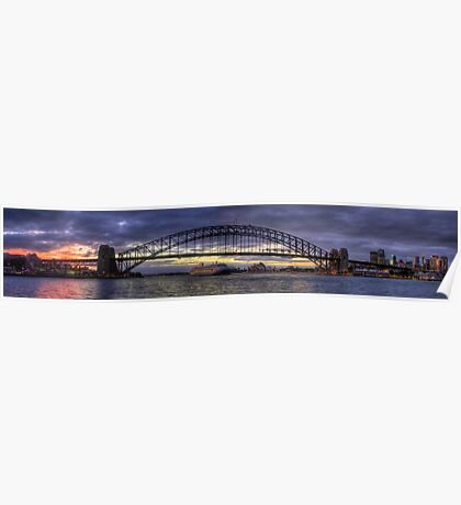 Welcome Home - Sydney Harbour Sunrise (35 Exposure HDR Panorama) - The HDR Experience Poster