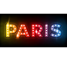 Paris in Lights Photographic Print