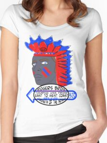 usa indians tshirt by rogers bros co Women's Fitted Scoop T-Shirt
