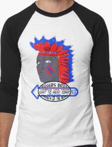 usa indians tshirt by rogers bros co Men's Baseball ¾ T-Shirt