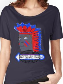 usa indians tshirt by rogers bros co Women's Relaxed Fit T-Shirt