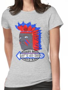 usa indians tshirt by rogers bros co Womens Fitted T-Shirt