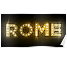 Rome in Lights Poster