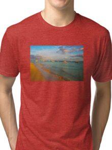 Playa del Carmen Beach, MEXICO Tri-blend T-Shirt