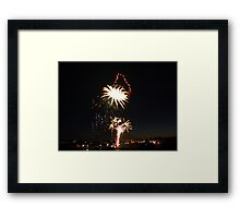 New years eve fireworks Framed Print