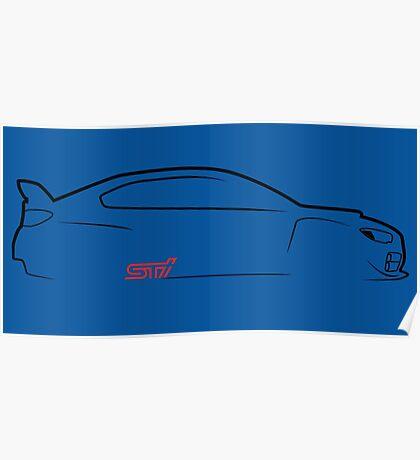 2015 Subaru STI Profile Poster