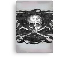 Old Crossbones Skull Pirate Flag Canvas Print