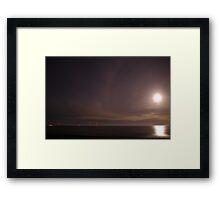 Lunar Aura Framed Print